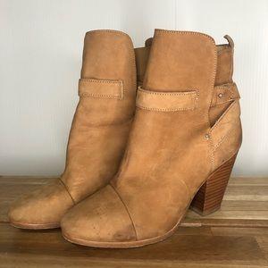Rag & Bone Kinsey Leather Ankle Strap Booties Heel